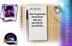 How To Generate html banner to your blog and link to your site easy way